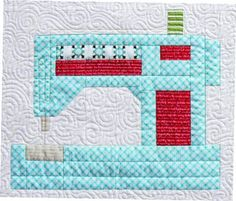 Sewing Machine Vintage Quilt Blocks Ideas For 2019 Paper Piecing Patterns, Quilt Block Patterns, Pattern Blocks, Quilt Blocks, Sewing Patterns, Tatting Patterns, Pattern Weights, Mini Quilts, Small Quilts