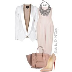 A fashion look from December 2014 featuring SLY 010 blazers, Topshop jumpsuits and Christian Louboutin pumps. Browse and shop related looks.