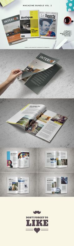 #magazine #design from Kingtown. Co | DOWNLOAD: https://creativemarket.com/kingtown/359501-50-Off-%E2%80%A2%E2%80%A2-MGZ-Bundle-Vol.-2?u=zsoltczigler