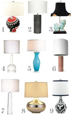 1) Prout's Medium Ball Lamp - Jill Rosenwald