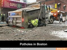 Funny pot holes