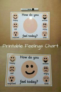 It can be hard for children to know what they are feeling. This chart can help children to identify their moods. Draw faces and talk about emotions Emotions Preschool, Emotions Activities, Preschool Classroom, Preschool Activities, Teaching Emotions, Kindergarten, Preschool Social Skills, Autism Classroom, Feelings Chart