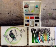 #ElementEdenArtSearch Playing with colour... Watercolour and graphite + soft pastels