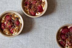 Raspberry Custard Cups