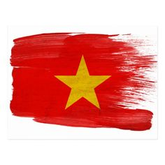 Shop Vietnam Flag Postcards created by Zipperedflags. Vietnam Flag, County Flags, Flag Art, Love Your Home, Flag Design, National Flag, Postcard Size, Smudging, Paper Texture