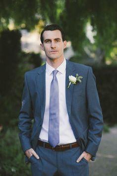Handsome groom | great groom style blue suit http://www.vintagevinylcds.com/