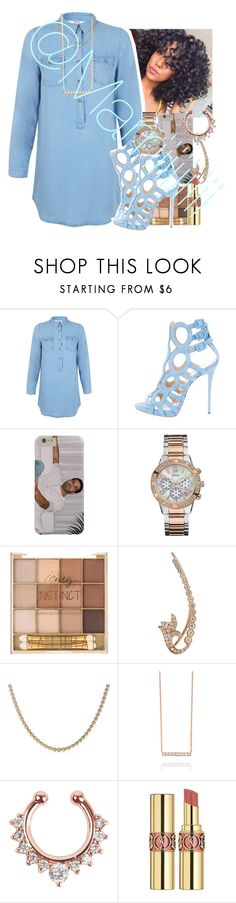 """Blue"" by marriiiiiiiii ❤ liked on Polyvore featuring Miss Selfridge, Giuseppe Zanotti, GUESS, Sara Weinstock, Tiffany & Co., Yves Saint Laurent, women's clothing, women, female and woman"