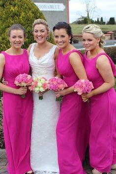 Bridesmaids wear Audrey from our Luna by Nicki Flynn Collection