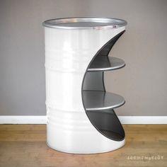 Garage Furniture, Barrel Furniture, Metal Furniture, Unique Furniture, Diy Furniture, Furniture Design, 55 Gallon Steel Drum, Barrel Projects, Diy Wall Painting