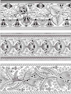 Dover Creative Haven Art Deco Egyptian Designs Coloring Page 5
