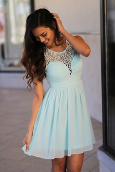 Get this beautiful Dusty Mint Crochet Short Dress from Saved by The Dress Boutique now! Perfect dusty mint short dress for special occasions. Crochet Short Dresses, Cute Short Dresses, Pretty Dresses, Grad Dresses, Homecoming Dresses, Bridesmaid Dresses, Formal Dresses, Prom, Wedding Dresses