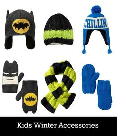 Winter accessories for kids.