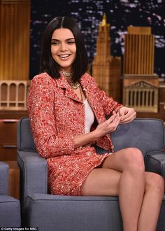 Chanel chic: Kendall Jenner appeared on the Tonight Show Starring Jimmy Fallon on Tuesday