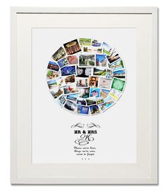 Mr & Mrs Circle Collage Treasure on the Wall creates timeless luxury photo collages. We have cultivated a reputation for our unique artistic designs accompanied with high quality printing and framing, offering an exquisite range of high-quality luxury collages, solely meant to make memorable moments, unforgettable. Perfect as Wedding Gifts, First Anniversaries gifts, or to give on a special occasion, to a love one on their Anniversary or Birthday, They also make amazingly wonderfully unique…