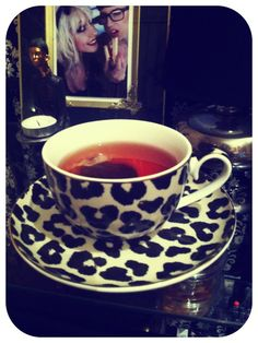 leopard print tea cup-that's cuteness in a cup!!