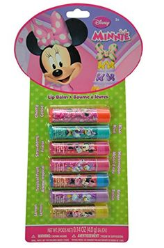 Disney Minnie Mouse Bowtique Flavored Lip Balm of the Week 7 Piece Gift Set ** You can get more details by clicking on the image.