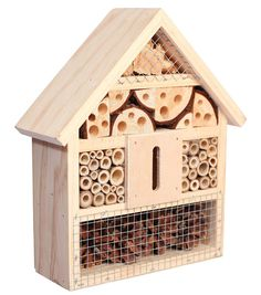 """You can nab this bee B&B on Amazon for $26.99 and have a grand hotel for the beneficial insects around you. Look for """"Niteangel Natural Bee House and Insect Hotel.""""  #InsectHotel #BeeHotel #Bees"""