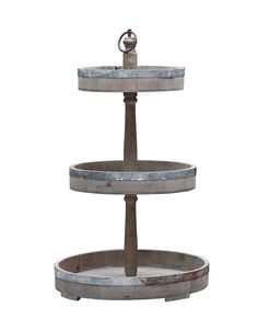Three Tier Server Tray Set & Vintage Trays and Platters at Restyle Source
