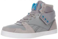 Reebok Men's SH Flipcity Fashion Sneaker – Color: Flat Grey/Far Out Blue/White - #SNEAKERS