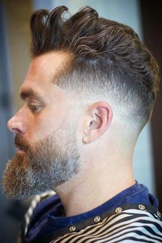 The taper fade haircut one of the most iconic and trendy styles for men. Check out our top list and find out how-to-get and style this cut. Barber Haircuts, Haircuts For Men, David Hair, Comb Over Fade, Taper Fade Haircut, Beard Look, Fade Styles, Beard Growth, Hair And Beard Styles