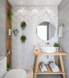 83 home interior design ideas for small spaces that feel spacious 19 Bathroom Interior Design, Decor Interior Design, Interior Designing, Interior Ideas, Interior Lighting, Mid Century Modern Bathroom, Picture Shelves, Trendy Home, Bathroom Inspiration