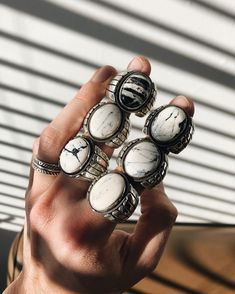 """Chad Barela on Instagram: """"Happy to let you all know we now have White Buffalo rings available. Three different designs including two classics, the Temple ring and…"""" Guy Gifts, Different, Buffalo, Temple, Third, Silver Rings, Let It Be, Classic, Happy"""