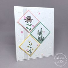 Mel's Card Corner   Flowering Fields #stampinup #floweringfields #melscardcorner