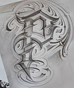 Script Tattoos, Word Tattoos, Tattoo Fonts, Chicano Lettering, Graffiti Lettering Fonts, Typography, Letter R Tattoo, Grafitti Letters, Lowrider Art