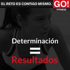 Determinación = Resultados #gofitness #clasesgo #ejercicio #gym #fit #fuerza #flexibilidad #reto #motivate #determinacion Go Fitness, Fitness Motivation, Trx, Happy Life, Words, Quotes, Strong, Frases, Flexibility