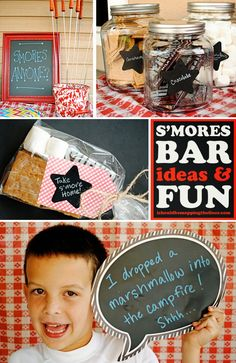 S'mores Bar Ideas and Fun | This vintage s'mores bar is the perfect excuse for an evening get-together. #BrightStarKids #ad #sponsored