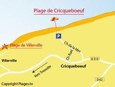 Carte de la plage de Cricqueboeuf