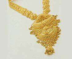 Gold Bangles Design, Gold Earrings Designs, Gold Jewellery Design, Necklace Designs, Indian Wedding Jewelry, Bridal Jewelry, Indian Jewelry, Gold Mangalsutra, Gold Anklet