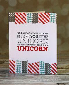 Unicorn Washi Card
