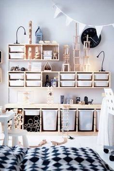TROFAST Storage combination with boxes – white, white – IKEA - Kids playroom ideas Ikea Trofast Storage, Diy Toy Storage, Storage Ideas, Trofast Hack, Creative Storage, Storage Hacks, Hidden Storage, Ikea Storage Kids, Storage Solutions