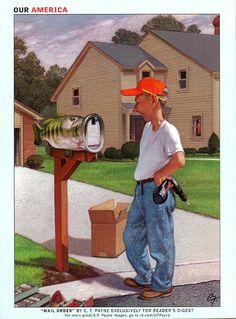 "illustrations on the back of readers digest | Reader's Digest back cover, January 2007Illustration: ""Mail Order ..."