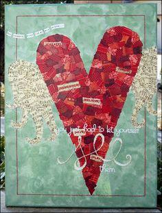 Pretty Collage. :) Lovely. I definitely want to make something like this! I think I need more magazines...