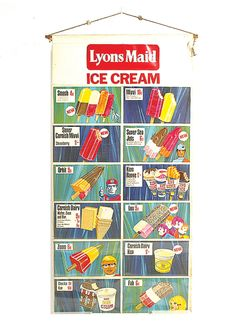 Lyons Maid Ice Cream Plastic And Polythene Advertising Sign Showing | Vectis Toy Auctions