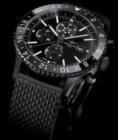 La Cote des Montres : La montre Breitling Chronoliner Blacksteel - Le noir aux…