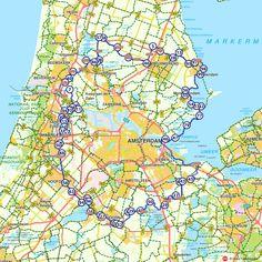 Fietsroute: De Stelling van Amsterdam rond. (http://www.route.nl/fietsroutes/117989/Stelling-van-Amsterdam/)
