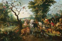 Jan Brueghel, Noé guiando los animales (Antiguo Testamento)