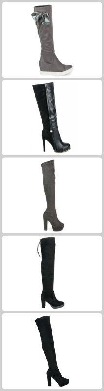 Čižmy na platforme Knee Boots, Platform, Sexy, Shoes, Fashion, Knee High Wedge Boots, Shoes Outlet, Fashion Styles, Shoe