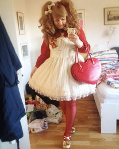 Beautiful Plus Sized Lolitas, danslesroses:   Tried to be a bit more classic...