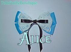 Alice in Wonderland Disney Inspired hair bow