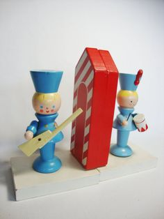 Vintage Toy Soldier Nursery Bookends