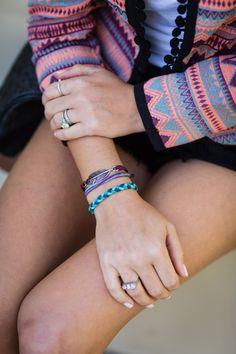 My stacked Pura Vida bracelets are a key accessory.
