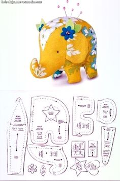 The Best 5 Free Patterns + 1 tutorial (Stuffed Elephant) . The Best 5 Free Patterns + 1 tutorial (Stuffed Elephant) . Animal Sewing Patterns, Sewing Patterns Free, Free Sewing, Quilt Patterns, Felt Patterns Free, Pincushion Patterns, Sewing Stuffed Animals, Stuffed Animal Patterns, Easy Sewing Projects