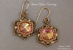 Beaded Earrings Tutorial  Sunset Glare Earrings  by ByAllBeads