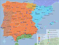 1265 dC -España Islámica y La Reconquista - Poco después, las ciudades de Valencia, Córdoba, Sevilla y las Islas Baleares se redujeron a los cristianos. Solo queda el reino Nazari