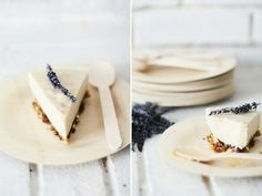 Lavender Honey Cheesecake- how beautiful!  Going crazy for Katie Brown today.