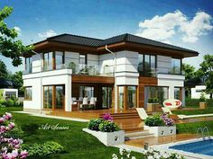 Modern country house design country home design modern country house Villa Design, Facade Design, Exterior Design, Architecture Design, Country Modern Home, Country House Design, Modern House Design, Country Houses, French Country